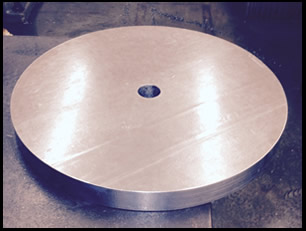 Round precision machined counterweight