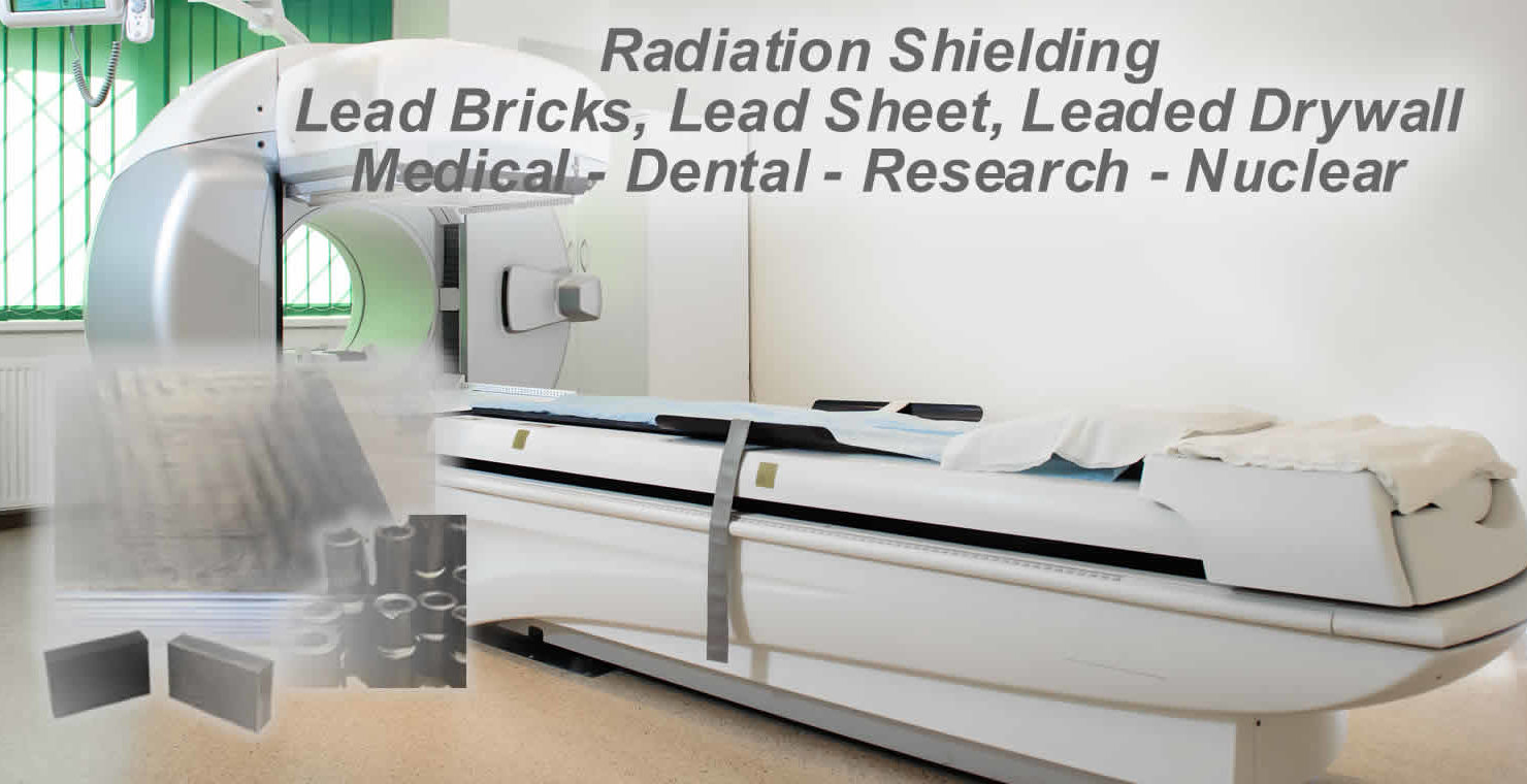 lead radiation shielding, brick, sheet. lead lined drywall, plywood