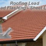 Lead roof flashing