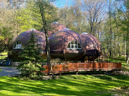 Lead Roofed Dome Home